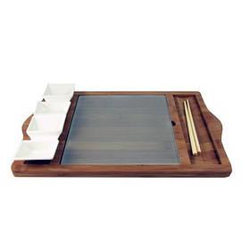 Cirleware CG33452 Набір для суші на дерев'яній підставці 5 предметів