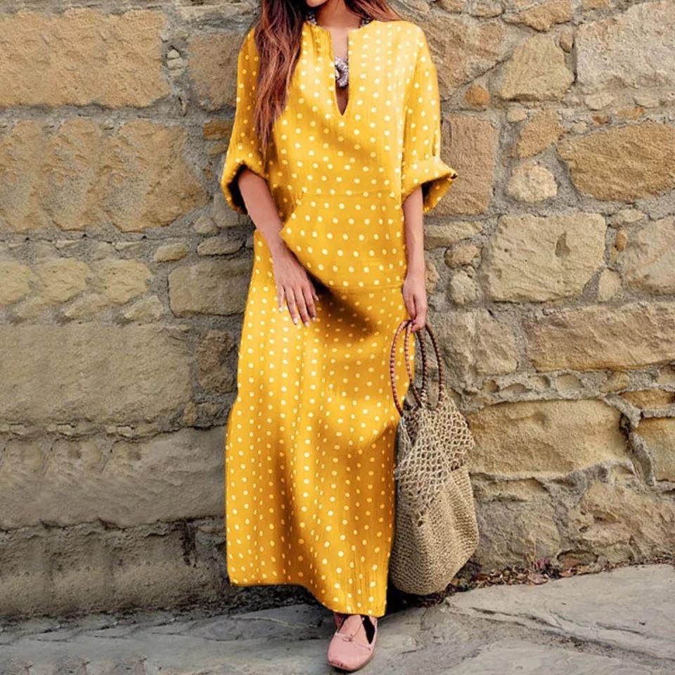 Женское платье, супер - софт, р-р универсальный 42-46; 48-52 (жёлтый)