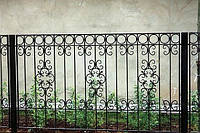 Кований паркан прути