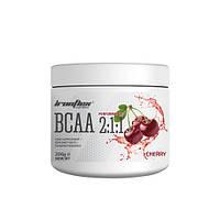 Аминокислоты IronFlex BCAA Performance 2-1-1 200 г Вишня Cherry, фото 1