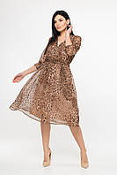 Шифонова сукня Леопардовий принт, фото 1