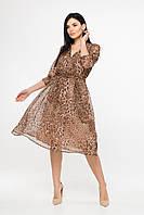 Шифоновое платье Леопардовый принт, фото 1
