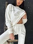 Женский спортивный костюм, турецкая двунить, р-р 42-44; 44-46 (молочный), фото 2