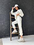 Женский спортивный костюм, турецкая двунить, р-р 42-44; 44-46 (молочный), фото 4