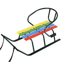 Санки детские «Лайка», плоско-овальнаятруба, фото 1