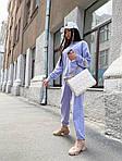 Жіночий спортивний костюм, турецька двунить, р-р 42-44; 44-46 (фіалковий), фото 3