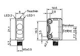 FT 10-RH-PNSL-K4 Фотоелектричний датчик з погашенням фону PNP/NPN, фото 2