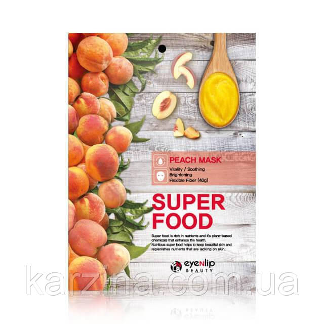 Тканевая маска с экстрактом персика Eyenlip Super Food Peach Mask