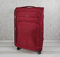 Дорожный тканевый чемодан 6311 (красный) на 4 колесах (большой), фото 1