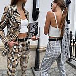 Костюм женский брючный бежевый барбери в клетку: пиджак и брюки (в расцветках), фото 7