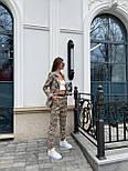 Костюм женский брючный бежевый барбери в клетку: пиджак и брюки (в расцветках), фото 8