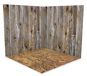 Вініловий 3D фотофон дві стіни та підлогу № W013, фото 2