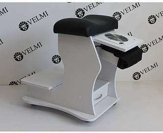 Подставка-пуф для педикюра с ящичком педикюрная подставка для ног педикюрного кресла передвижная vm28