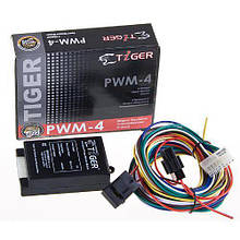 Модуль ел/склопідйомники Tiger PWM-4/4 скла/чорний (PWM-4)