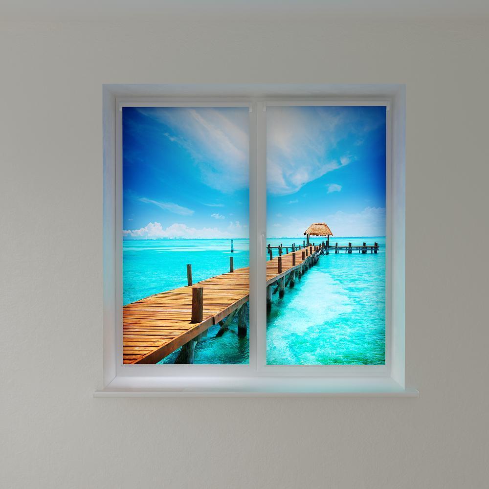 Рулонні штори з фотодруком Мальдіви