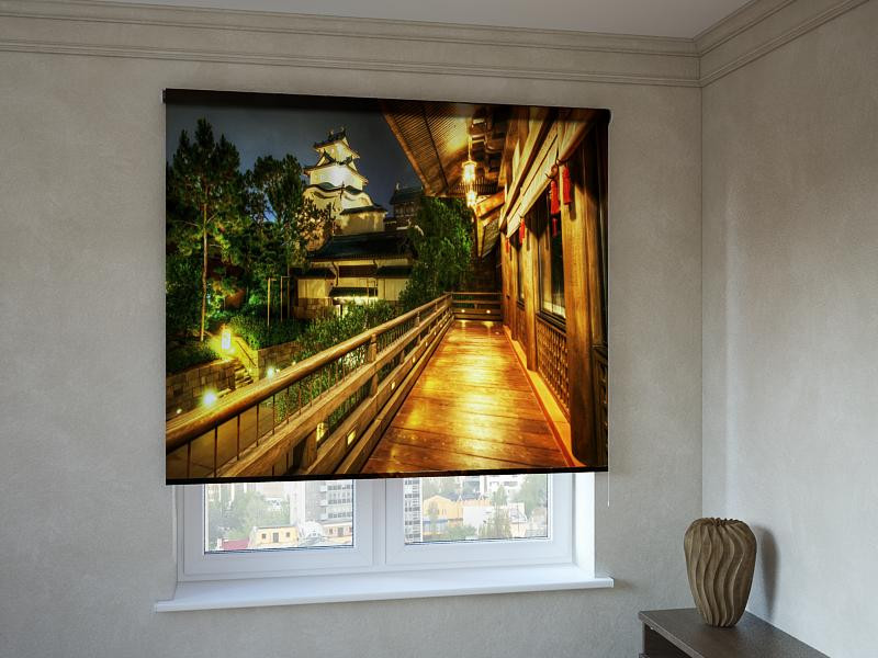 Рулонні штори з фотодруком балкон