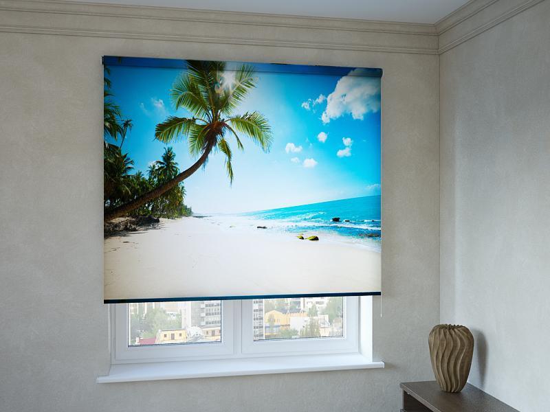 Рулонні штори з фотодруком пальми