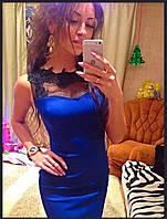 Платье с гипюром и кружевом