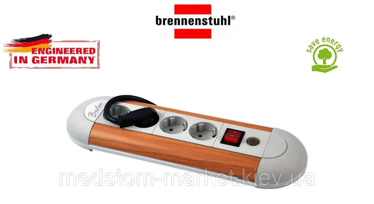 Удлинитель Brennenstuhl Brellani Collection 4 розетки с кнопкой серый 1,8м