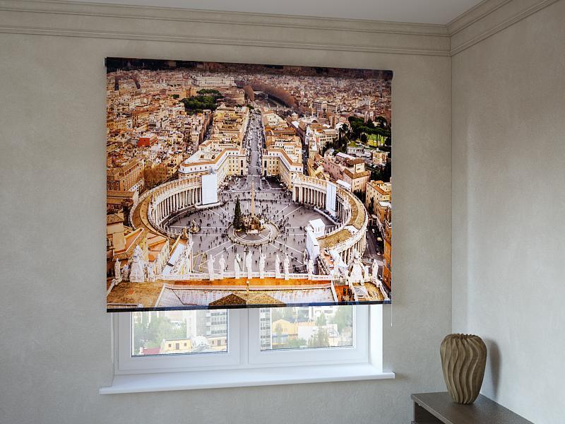 Рулонні штори з фотодруком Ватикан