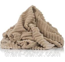 Ткань плюшевая Minky Stripes бежевый (шарпей) (35*160)