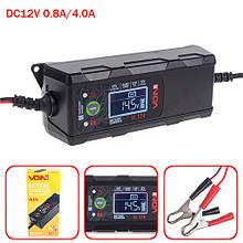 Зарядний пристрій VOIN VL-124 12V/4A/3-120AHR/LCD/Імпульсне (VL-124)