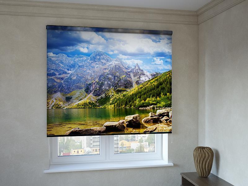 Рулонные шторы с фотопечатью озеро