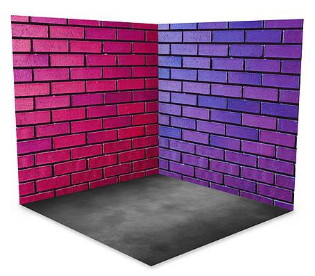 Виниловый 3D фотофон две стены и два пола № W019, фото 2