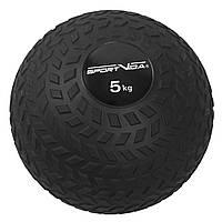 Слэмбол (медицинский мяч) для кроссфита SportVida Slam Ball 5 кг SV-HK0347 Black для дома и спортзала