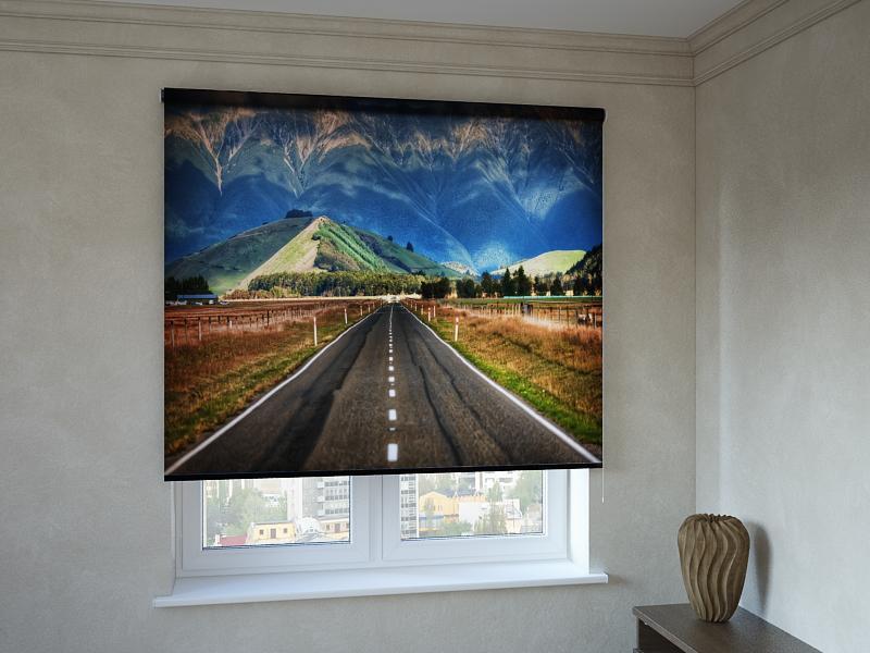 Рулонні штори з фотодруком дорога