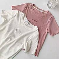 Женская стильная трикотажная футболка, фото 1