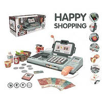 Детский игрушечный кассовый аппарат Мини касса со сканером, весами и лентой для продуктов Metr+ 888 H
