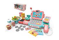Детский кассовый аппарат Мини магазин со сканером, весами и лентой для продуктов Metr+ 888 G