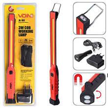 "Переносна лампа ""VOIN"" VL-193 12V/220V/3W-COB+2 LED-НР/АКБ/USB+microUSB/магніт (VL-193)"