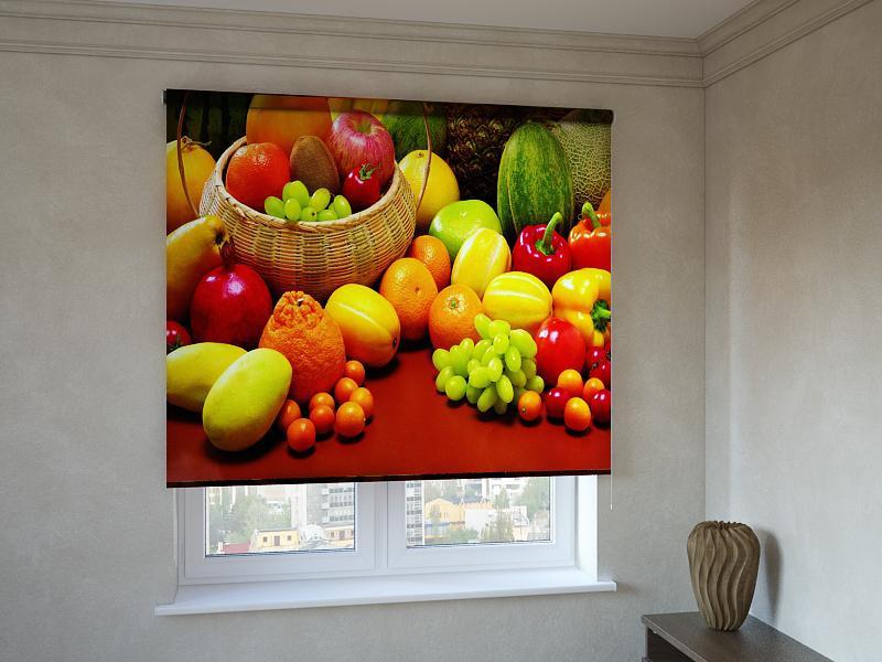 Рулонні штори з фотодруком фрукти