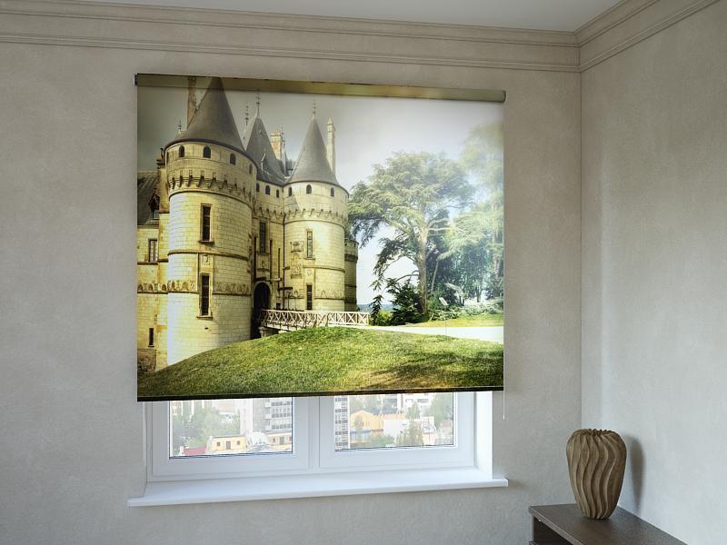 Рулонні штори з фотодруком фортеця
