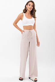 Летние брюки из хлопка широкие на резинке размеры S  L