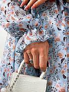 Стильне і легке жіноче плаття з довгим рукавом, 00658 (Голубий), Розмір 44 (M), фото 2