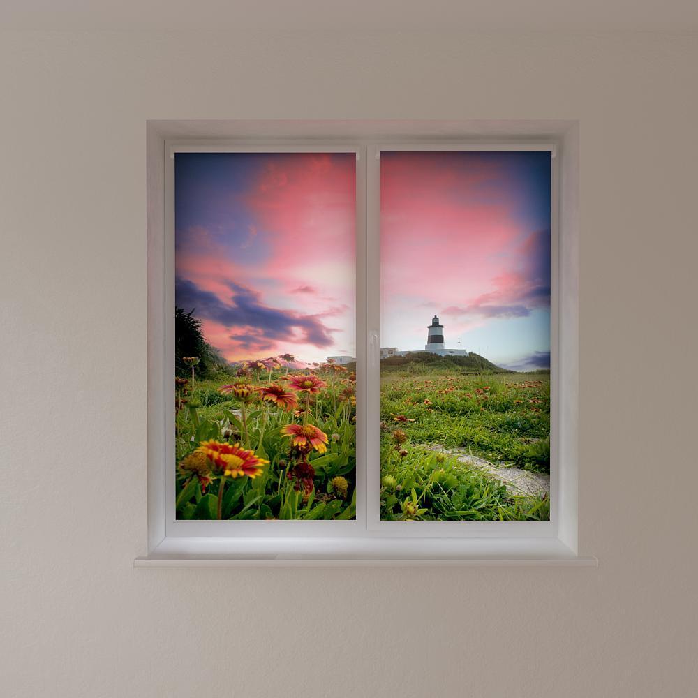 Рулонные шторы с фотопечатью маяк