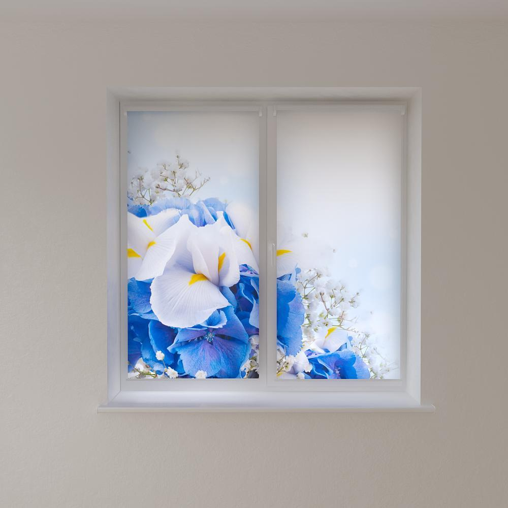Рулонні штори з фотодруком ніжні квіти
