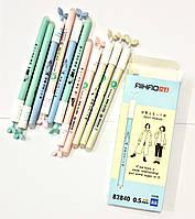 Ручка стирачка AIHAO 82840 цветной корпус листья