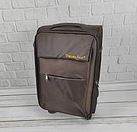 Дорожній тканинний валізу 6307 (коричневий) на 4 колесах (маленький), фото 1