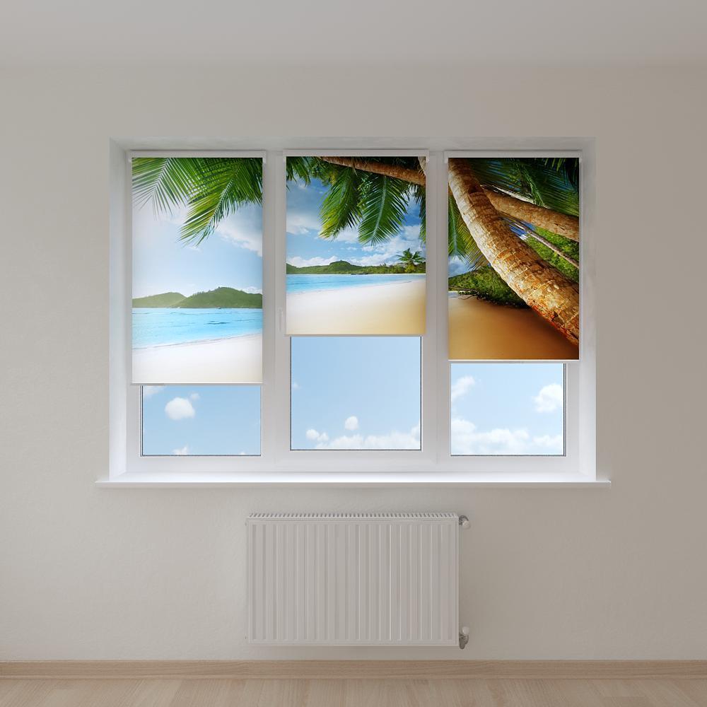 Рулонные шторы с фотопечатью побережье острова