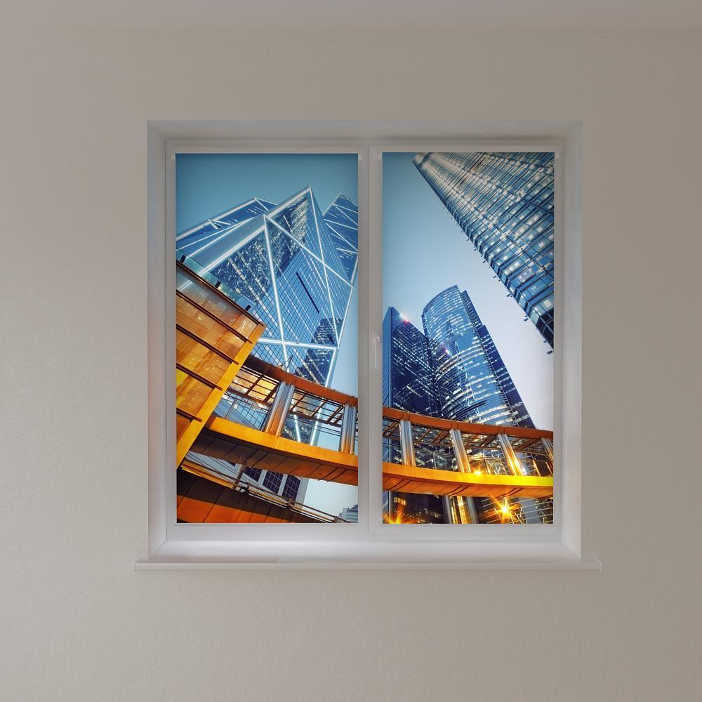 Рулонные шторы с фотопечатью высокие дома