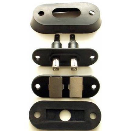 Концевики (для сдв.двери) квадр. (SS-201B), фото 2