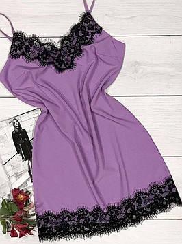Домашнє плаття-пеньюар з квітковим мереживом.
