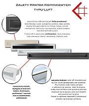 Вентиляционная решетка для камина KRATKI люфт угловая правая 547х766х60 мм SF белая, фото 3