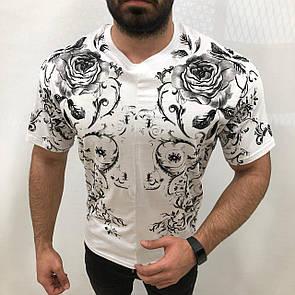 Мужская белая футболка оверсайз