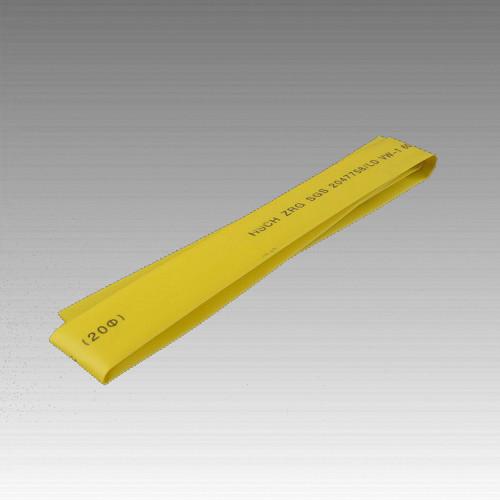 Термоусаживаемая трубка 12мм желтый (пак 1м*20шт)