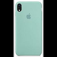 Чехол для iPhone XR Silicone Case бампер (Sea blue)